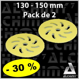 PACK de 2 Mousses Microfibres Jaune 130/150 mm