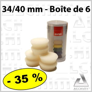 Mousse  34/40 mm Blanche par 6