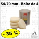 Mousse  54/70 mm Blanche par 4