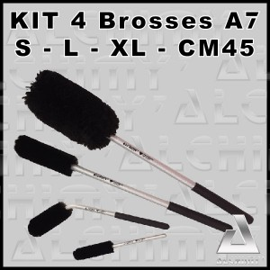 KIT 4 BROSSES A7 - S / L / XL / CM45 -